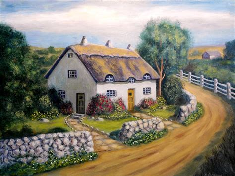 english cottage paintings originals for sale english cottage artsyhome