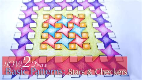 youtube geometric pattern how to draw simple geometric patterns stars and squares