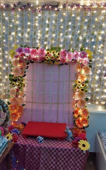 ganpati decoration ideas flower decoration  ganpati