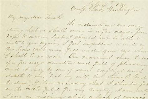 Sullivan Ballou Letter o did sullivan ballou s famed letter come from