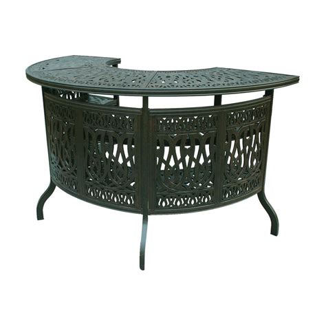 Patio Bar Table Shop Darlee Elisabeth Antique Bronze Aluminum Patio Bar At Lowes