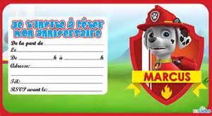 invitation anniversaire pat patrouille 123 cartes
