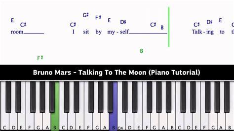 tutorial piano talking to the moon bruno mars talking to the moon piano tutorial chords