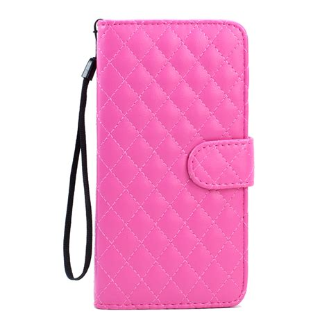 Zagbox Flip Cover Samsung Galaxy S6 Edge Pink wholesale samsung galaxy s6 edge plus quilted flip leather wallet with pink