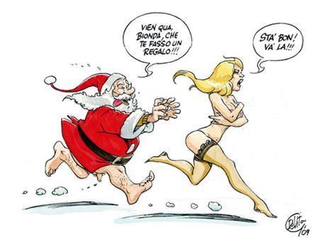 Funny cartoon santa claus cartoon santa claus present