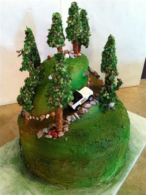 happy birthday jeep cake jeep climbing a mountain cakecentral com
