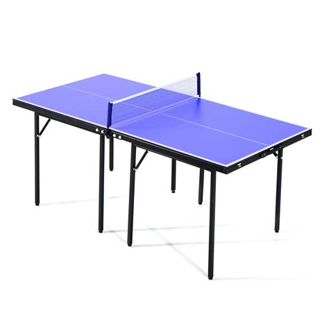 folding ping pong table top homcom folding mini ping pong table set