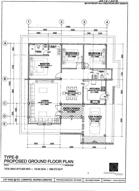 floor plan single storey bungalow pan villa properties proposed single storey bungalow at