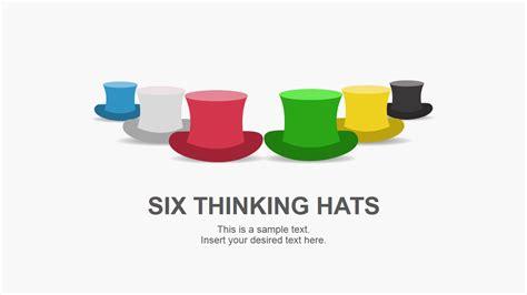 debono hats template de bono s six thinking hats powerpoint template slidemodel