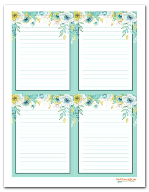 printable note cards with lines i should be mopping the floor free printable floral gift tags