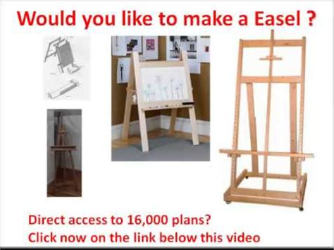 you build it plans easel plans would you like to make a painting easel