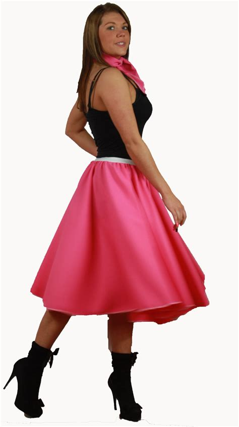 Rok Set Bandana rock n roll skirt scarf set 1950s 1960s pink fancy dress