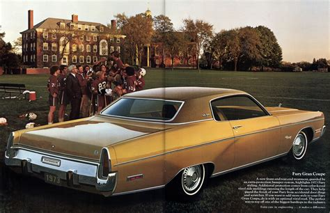 leaflet design plymouth chrysler 1973 plymouth fury sales brochure