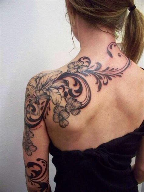 Tattoos Frauen Schulter by Blumenranken 20 Sch 246 Ne Vorlagen F 252 R Diverse