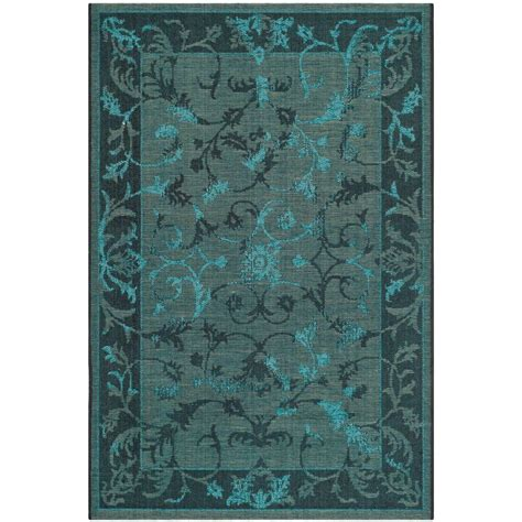 Black And Turquoise Rug Safavieh Palazzo Black Turquoise 4 Ft X 6 Ft Area Rug