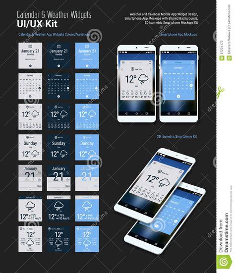 Calendario M App Dise 241 Os M 243 Viles De Los Aparatos Ui App Calendario
