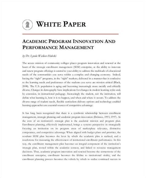 36 sle white paper templates