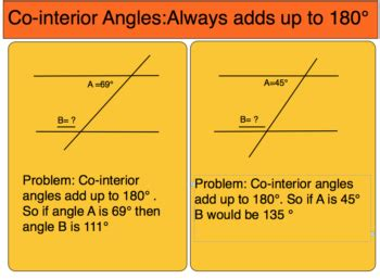 co interior angle relationships a corresponding alternate and co interior angles 7