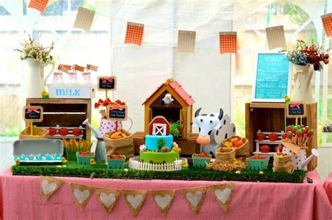 Barnyard Decorations by Kara S Ideas Farm Barnyard Birthday