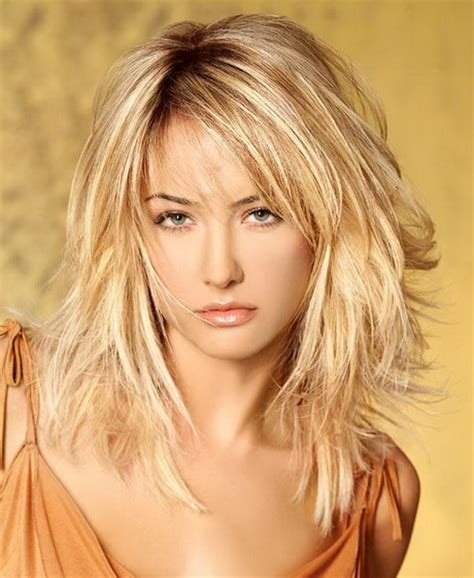 images layered hairstyles for shoulder length hair layered hairstyles with bangs for medium length hair