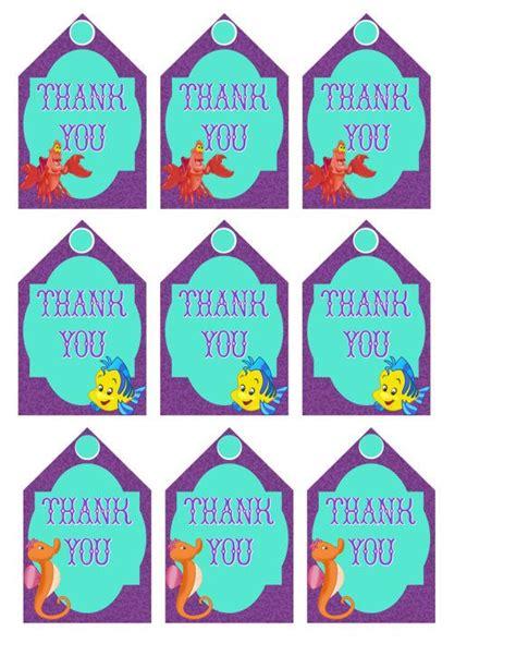 printable mermaid gift tags 8 best images of little mermaid printable tags little