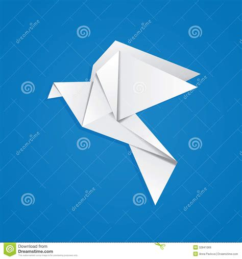 Pigeon Origami - origami pigeon royalty free stock images image 32841069