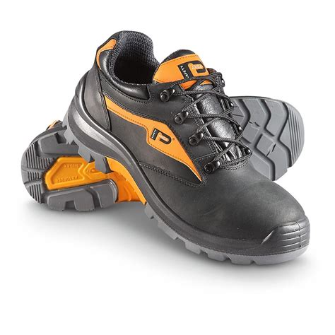 safety sneakers s panda italian leather safety shoes black with hi vis