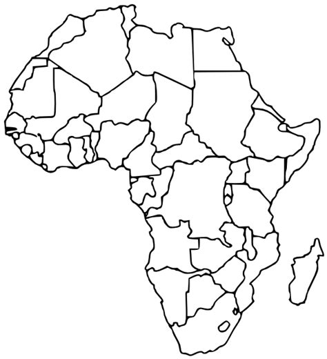 printable map africa countries best photos of blank africa map countries blank africa