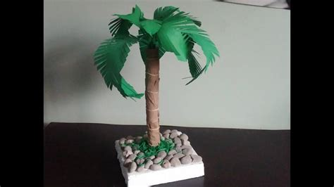 palm tree     paper palm tree diy home decor