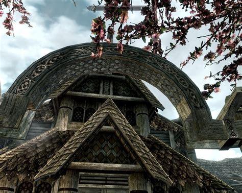 sea arch cabins skyrim architecture norse cabin