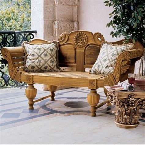 design toscano halifax console wood garden bench reviews