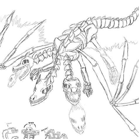 minecraft coloring pages mutant skeleton minecraft wither dragon by ankaa phoenicis on deviantart