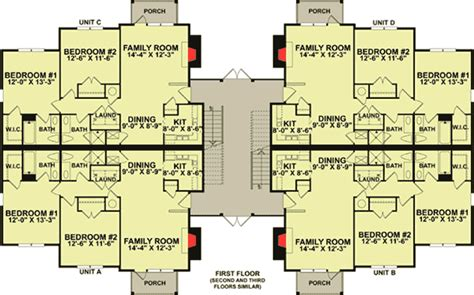 8 unit apartment building floor plans 12 unit apartment building plan 83120dc architectural
