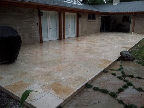 travertine pavers deck dallas fort worth