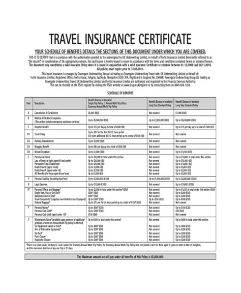 insurance certificate template insurance certificate template 10 free word pdf