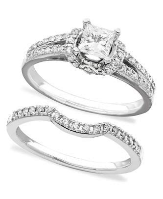macy s wedding ring style white gold with matching bands