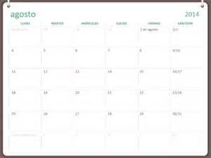 Office Calendar Template 2014 by Calendario Acad 233 Mico 2014 2015 Agosto Julio Office