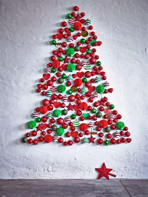 arboles navidad en ikea decoraci 243 n f 225 cil arboles de navidad en la pared