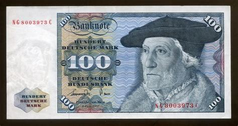 deutsche bank munster german money 100 deutsche banknote of 1977 sebastien