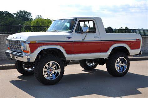 ford broncos for sale 1978 ford bronco 4x4 custom unibody truck half