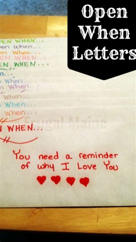 open when letter topics quot open when quot letters a beautiful idea and a way to make 1523
