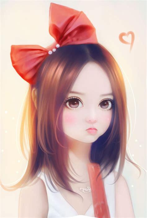 beautiful cartoon women art korean girl art art girl background beautiful