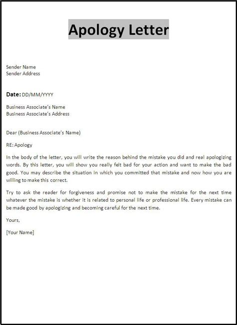 images apology letters pinterest letter