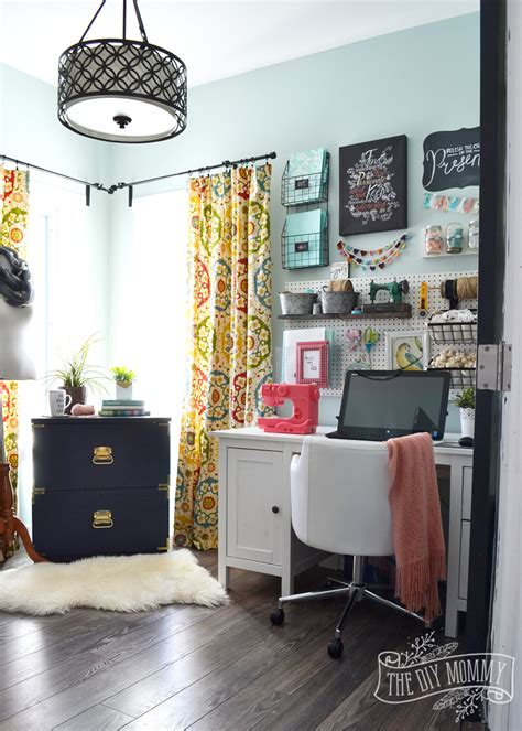 office and craft room my colourful boho craft room office tour the diy
