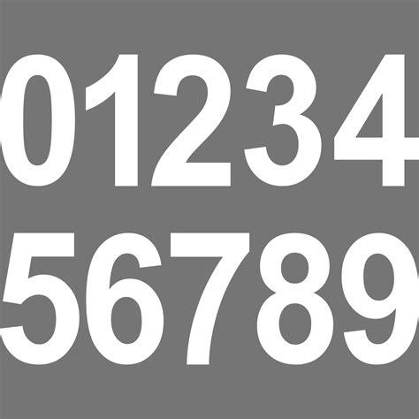 Konturgeschnittenen Aufkleber by 1 St 252 Ck 10cm Wei 223 Wunschziffer Aufkleber Tattoo Hausnummer