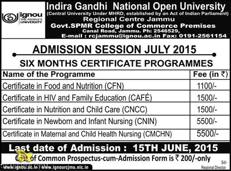 Ignou Mba Admission 2015 by Admission Open Diploma In Aviation Hospitality And Retail