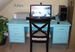 Home Office Desk Makeover Metal Desk Makeover Before And After Reveal