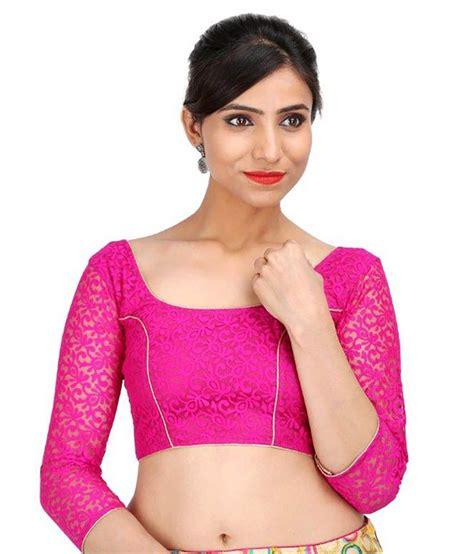 Jedar Blouse 2 N1 singaar pink net blouses buy singaar pink net blouses