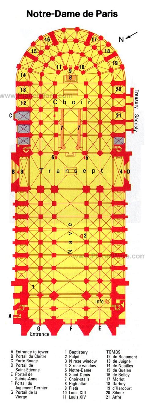 notre dame cathedral floor plan notre dame de paris floor plan map notre dame