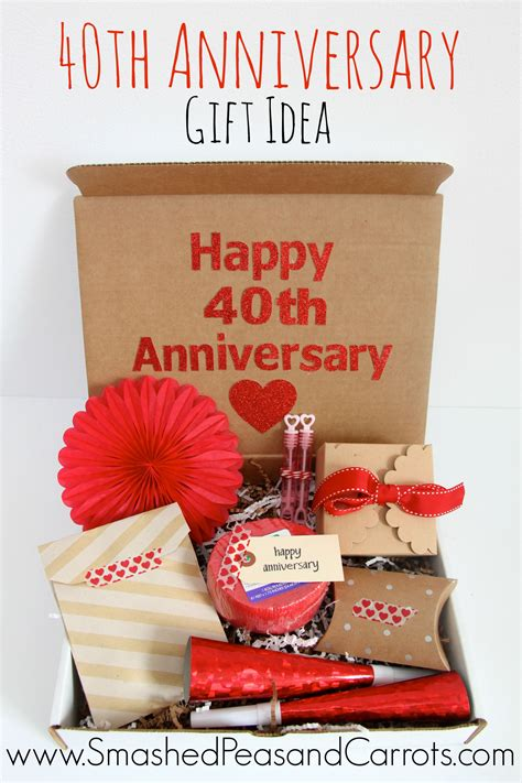 happy 40th anniversary gift idea tis better to give anniversary gifts 40th anniversary